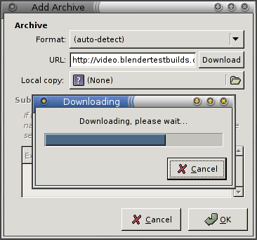 Download an archive